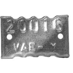 Plaquette Forestière métal